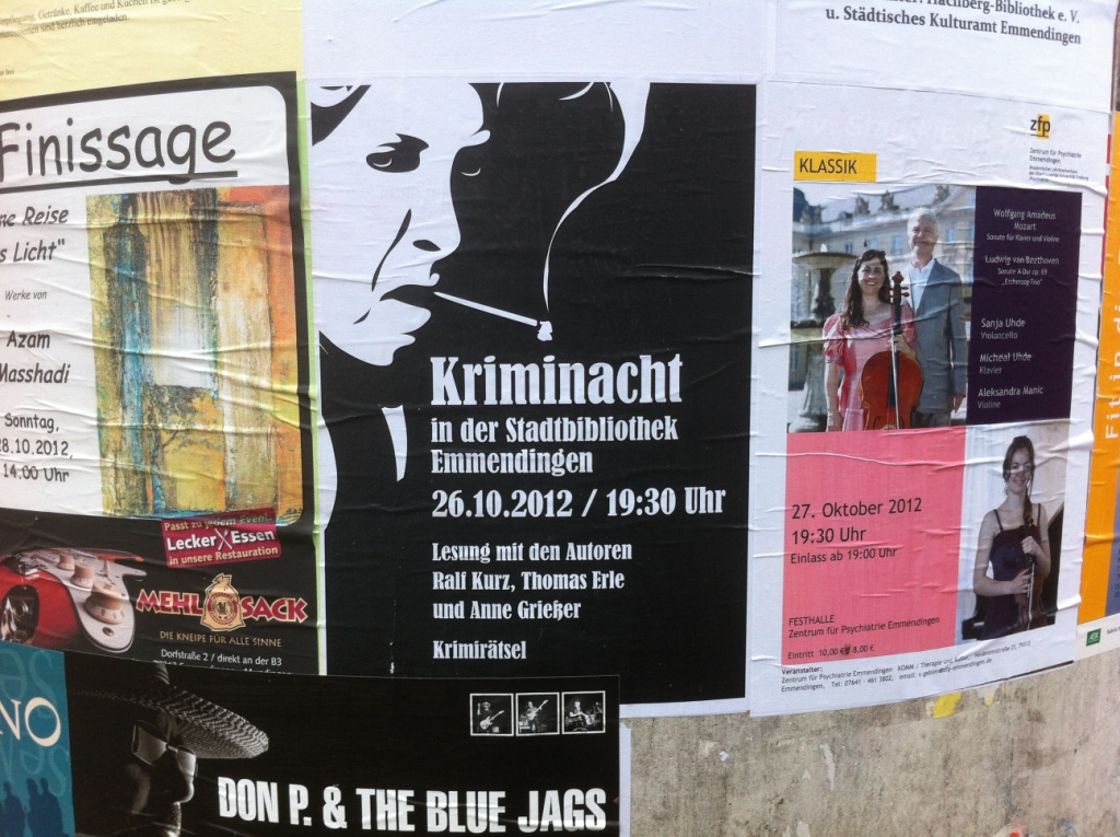 Plakat in der Stadt