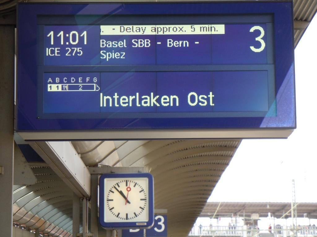 Abfahrt in Freiburg